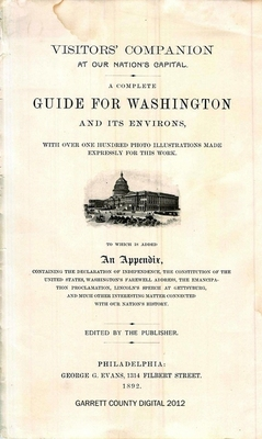 A Complete Guide for Washington and Its Environs