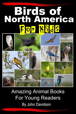 """Image of book cover showing a variety of birds. Text reads """"Bird of North American for Kids - Amazing Animal Books for Young Readers by John Davidson"""""""