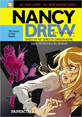 """Cover of """"Nancy Drew Girl Detective: The Demon of River Heights"""" by Stefan Petrucha"""